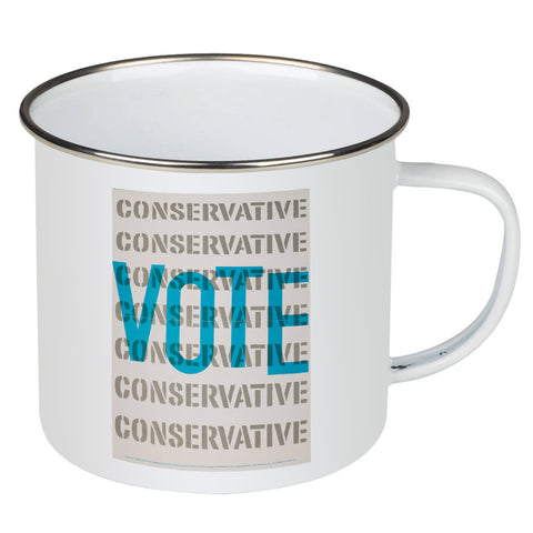 Vote Conservative Enamel Mug