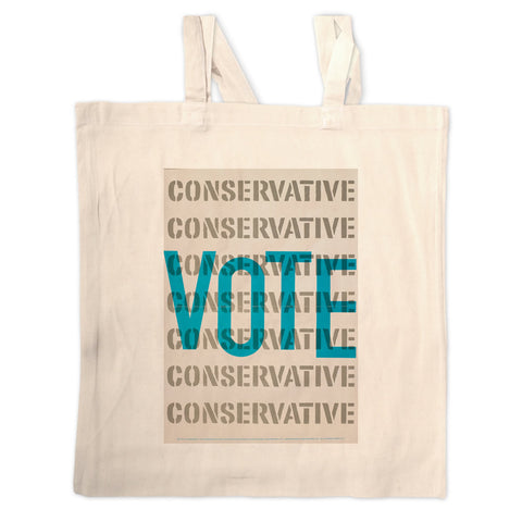 Vote Conservative Long Handled Tote Bag