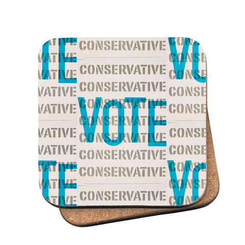 Vote Conservative Cork Coaster