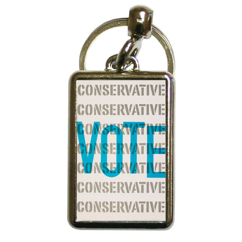 Vote Conservative Metal Keyring