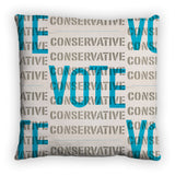 Vote Conservative Feather Cushion