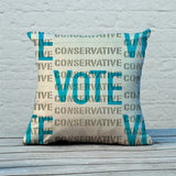 Vote Conservative Feather Cushion (Lifestyle)