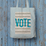 Vote Conservative Long Handled Tote Bag (Lifestyle)