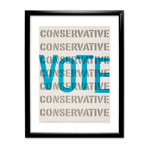Vote Conservative Black Framed Print