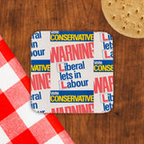 Warning. Liberal lets in Labour Cork Coaster (Lifestyle)