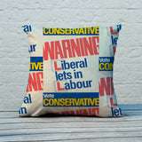 Warning. Liberal lets in Labour Feather Cushion (Lifestyle)