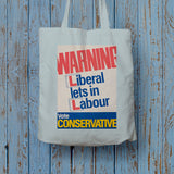 Warning. Liberal lets in Labour Long Handled Tote Bag (Lifestyle)