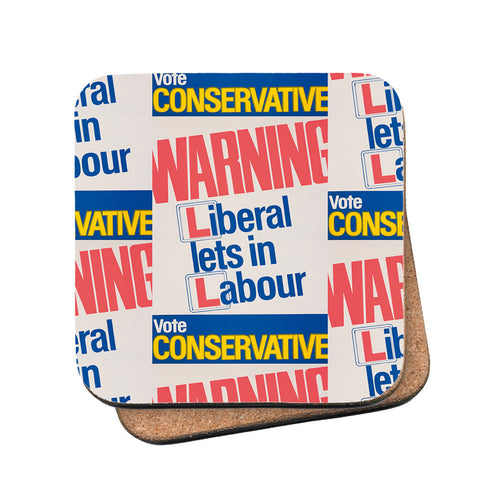 Warning. Liberal lets in Labour Cork Coaster