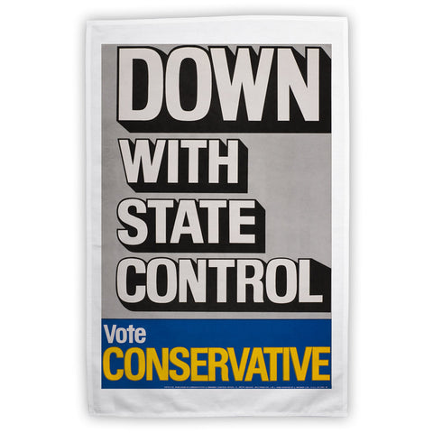 Down with state control. Tea Towel