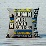 Down with state control. Feather Cushion (Lifestyle)