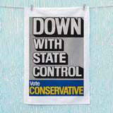 Down with state control. Tea Towel (Lifestyle)
