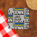 Down with state control. Cork Coaster (Lifestyle)
