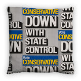 Down with state control. Feather Cushion