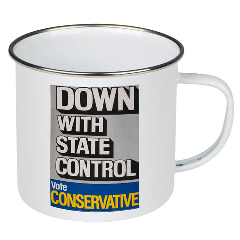 Down with state control. Enamel Mug