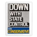 Down with state control. Art Print