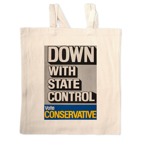 Down with state control. Long Handled Tote Bag