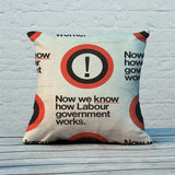 Now we know how Labour government works Feather Cushion (Lifestyle)