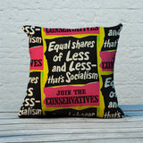 Equal shares of less and less - that's socialism Feather Cushion (Lifestyle)