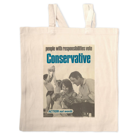 People with responsibilities vote Conservative Long Handled Tote Bag