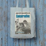 People with responsibilities vote Conservative Long Handled Tote Bag (Lifestyle)