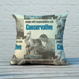 People with responsibilities vote Conservative Feather Cushion (Lifestyle)