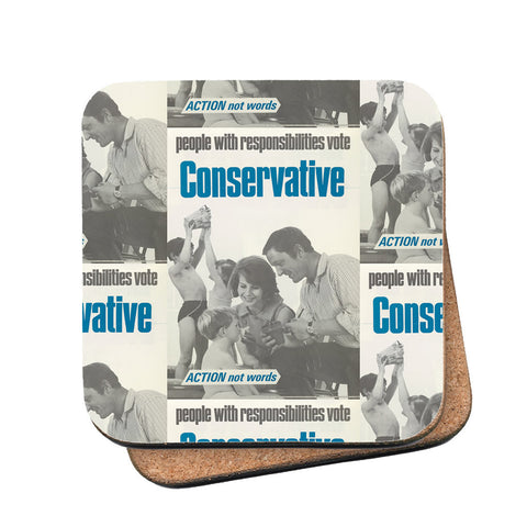 People with responsibilities vote Conservative Cork Coaster