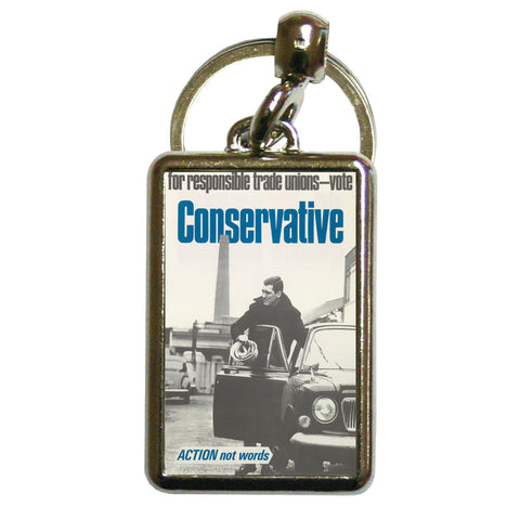 For responsible Trade Unions Metal Keyring