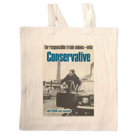 For responsible Trade Unions Long Handled Tote Bag