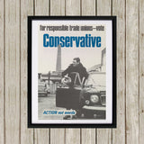 For responsible Trade Unions Black Framed Print (Lifestyle)