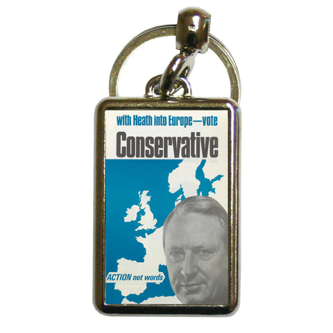 With Heath in Europe Metal Keyring