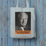 For a better tomorrow vote Conservative Long Handled Tote Bag (Lifestyle)