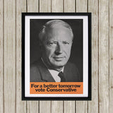 For a better tomorrow vote Conservative Black Framed Print (Lifestyle)
