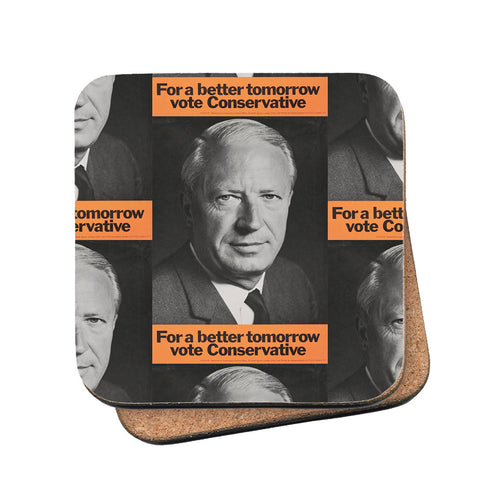 For a better tomorrow vote Conservative Cork Coaster