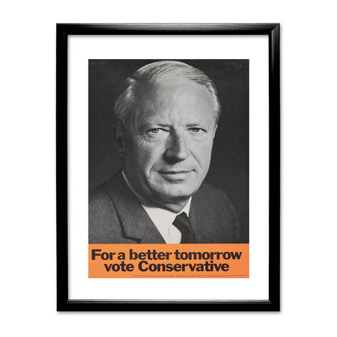 For a better tomorrow vote Conservative Black Framed Print