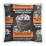 Remember Labour's broken promises Feather Cushion