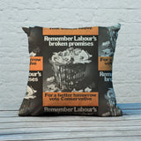 Remember Labour's broken promises Feather Cushion (Lifestyle)