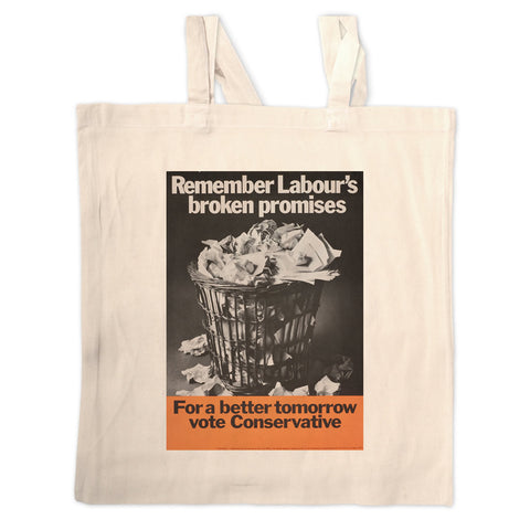 Remember Labour's broken promises Long Handled Tote Bag