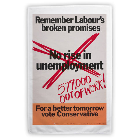 No rise in unemploymentƒ Tea Towel