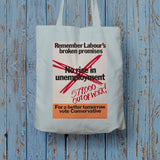 No rise in unemploymentƒ Long Handled Tote Bag (Lifestyle)