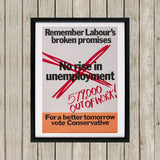 No rise in unemploymentƒ Black Framed Print (Lifestyle)