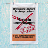 No rise in unemploymentƒ Tea Towel (Lifestyle)
