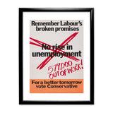 No rise in unemploymentƒ Black Framed Print