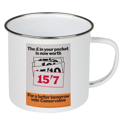 The £ in your pocket Enamel Mug
