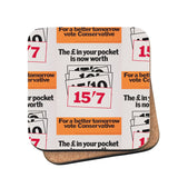 The £ in your pocket Cork Coaster