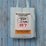 The £ in your pocket Long Handled Tote Bag (Lifestyle)