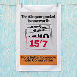 The £ in your pocket Tea Towel (Lifestyle)