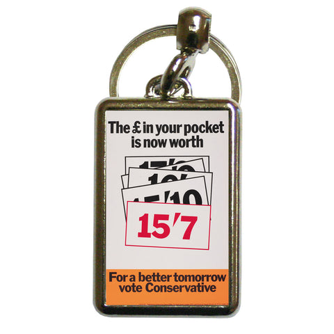 The £ in your pocket Metal Keyring