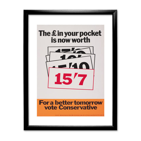 The £ in your pocket Black Framed Print