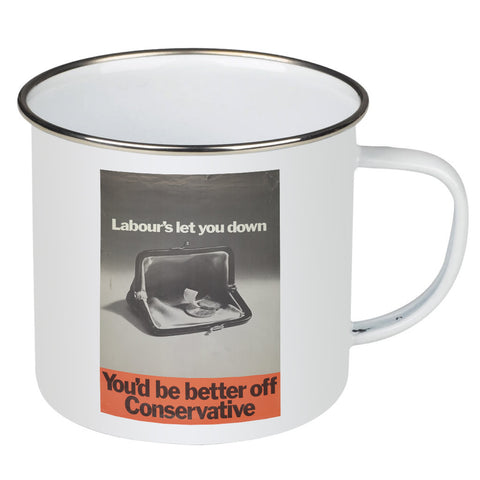 You'd be better off Conservative Enamel Mug