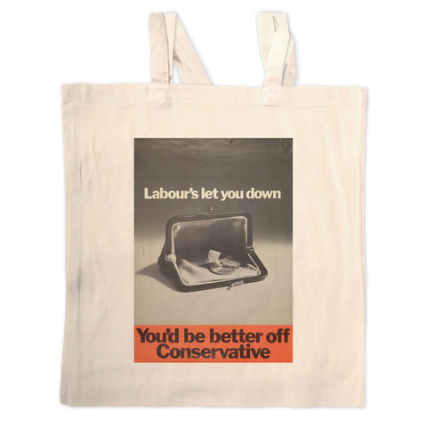 You'd be better off Conservative Long Handled Tote Bag
